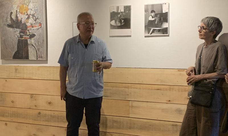 Kenji Fujita at his art Opening at Opus 40