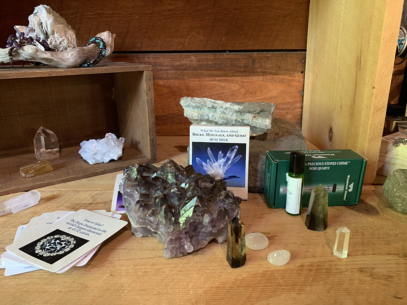 holiday package with gemstone