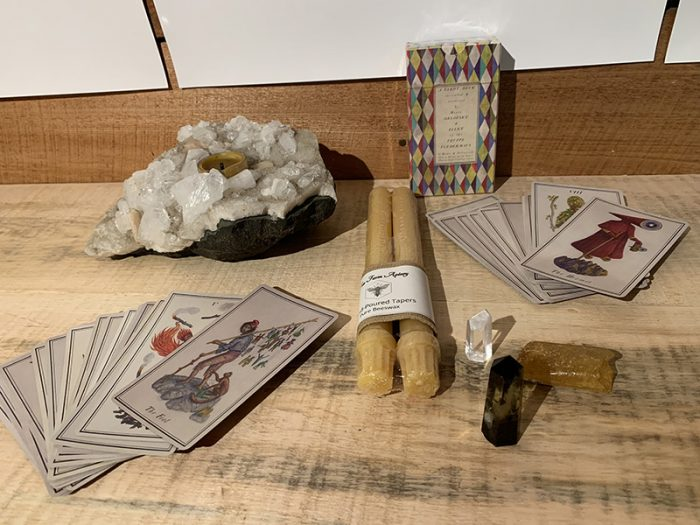 holiday package with tarot cards