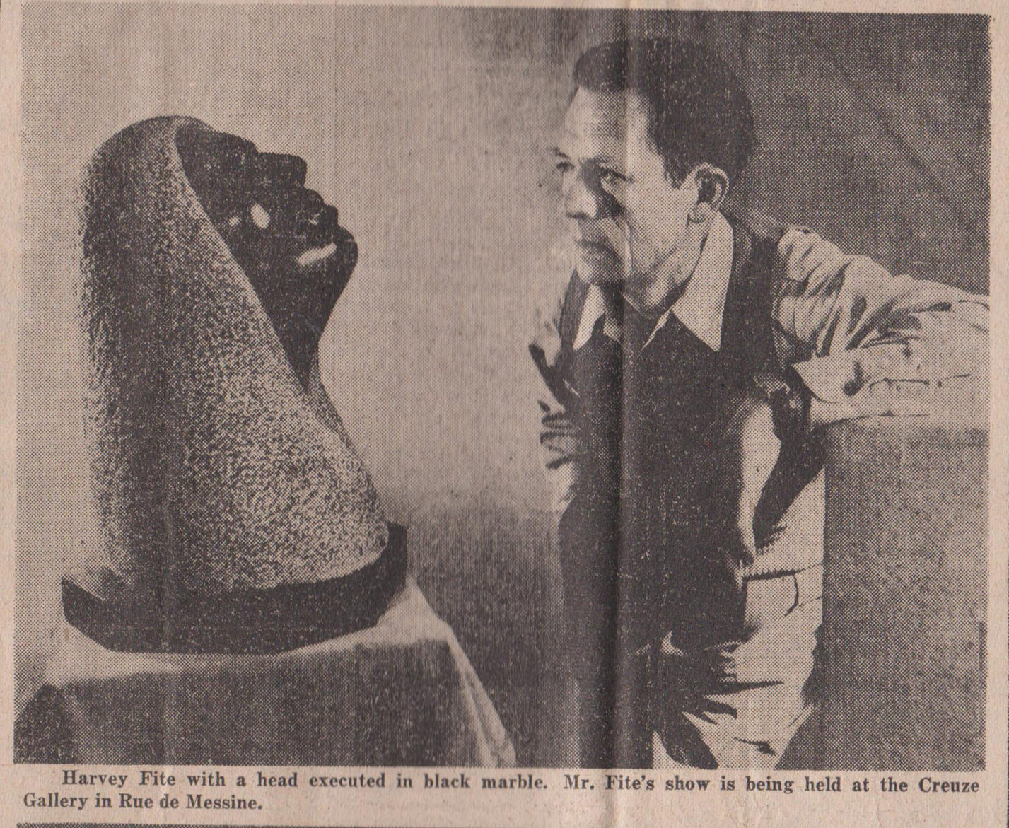 Harvey Fite in New York Times International Edition 1950