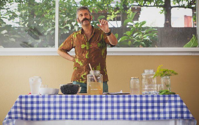 Sandor Katz teaching fermentation techniques.