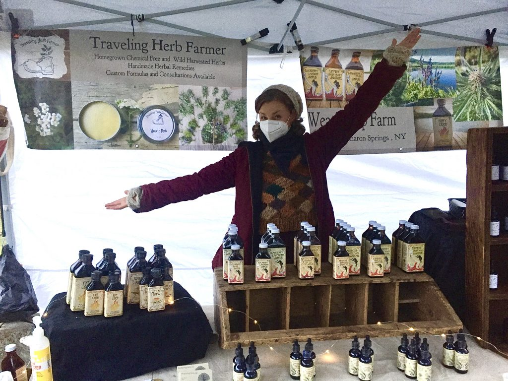 the Travelling Herb Farmer Booth at our holiday fair